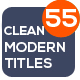 55 Modern Titles - VideoHive Item for Sale