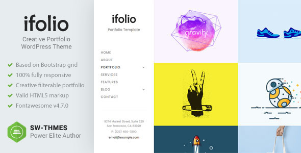 iFolio - Premium WordPress Theme - Portfolio Creative