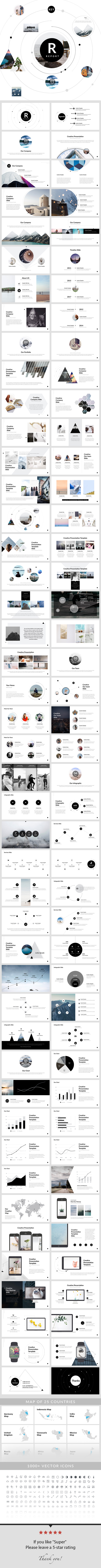 Report - Keynote Presentation Template - Creative Keynote Templates