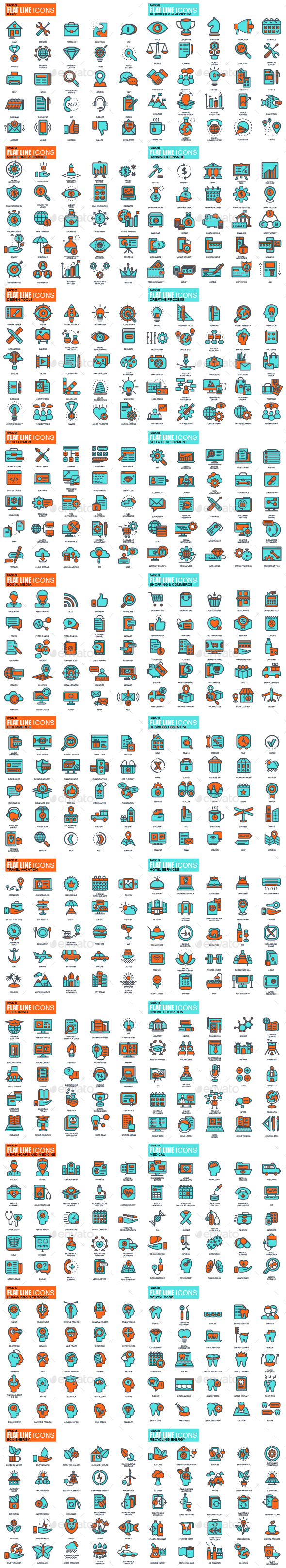 Set of Line Icons - Icons