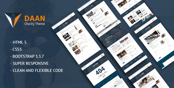 Daan – Non-Profit Charity Template for NGOs, Fundraising & Donations