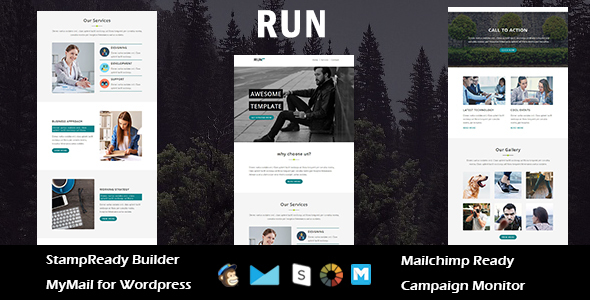 Run – Multipurpose Responsive Email Template with Stampready Builder Access
