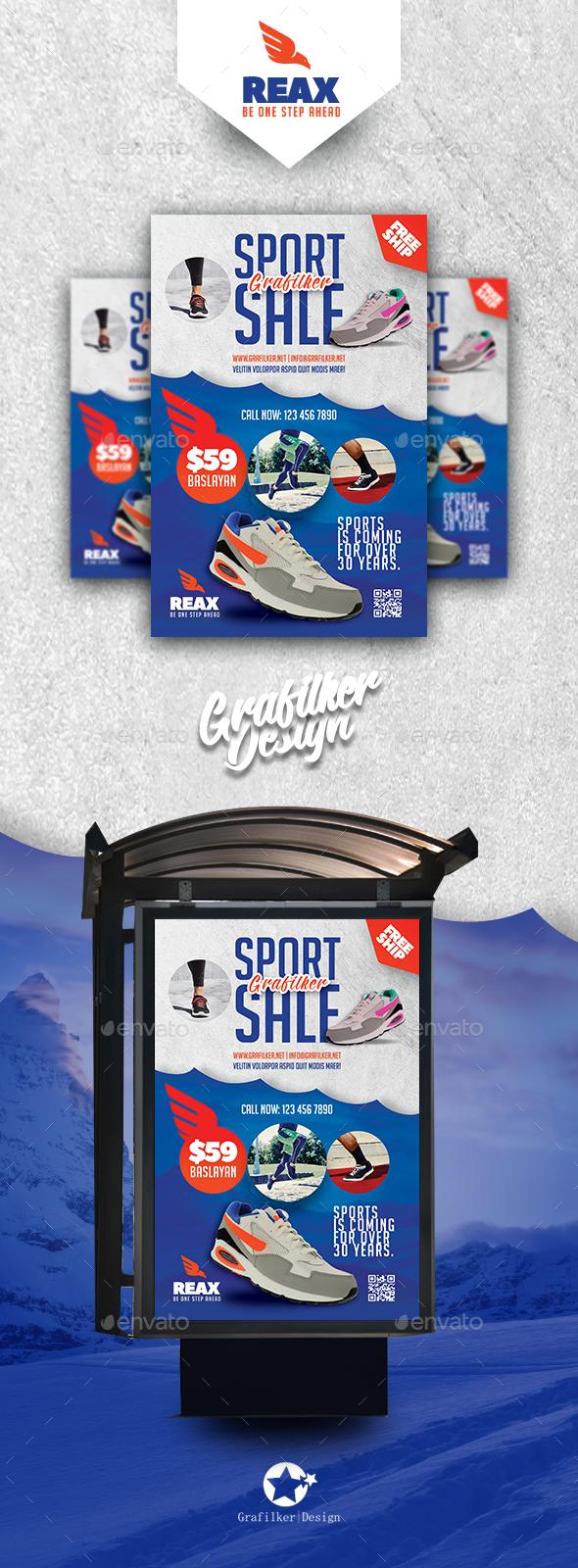 Sport Shop Billboard Templates - Signage Print Templates