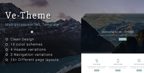 Ve-Theme - Multipurpose HTML Template