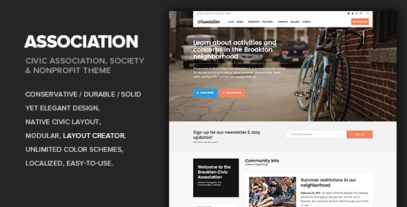 Association - Civic, Society, Third Sector & Nonprofit theme - Nonprofit WordPress