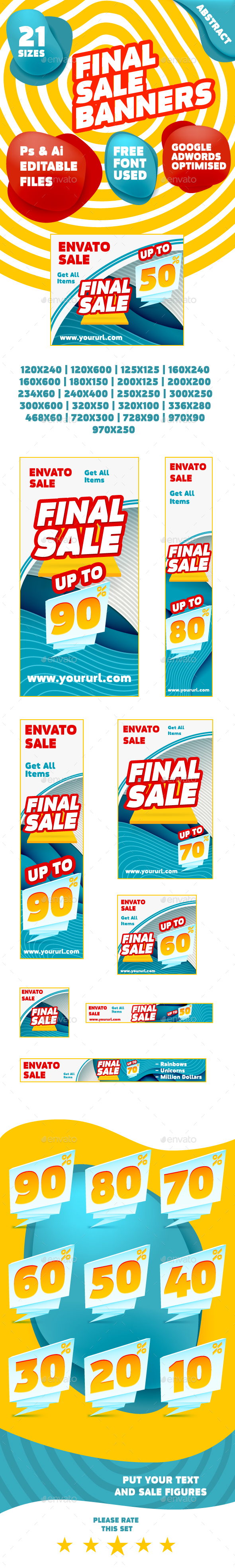 Product or Service Sale Web Banner Pack - Banners & Ads Web Elements