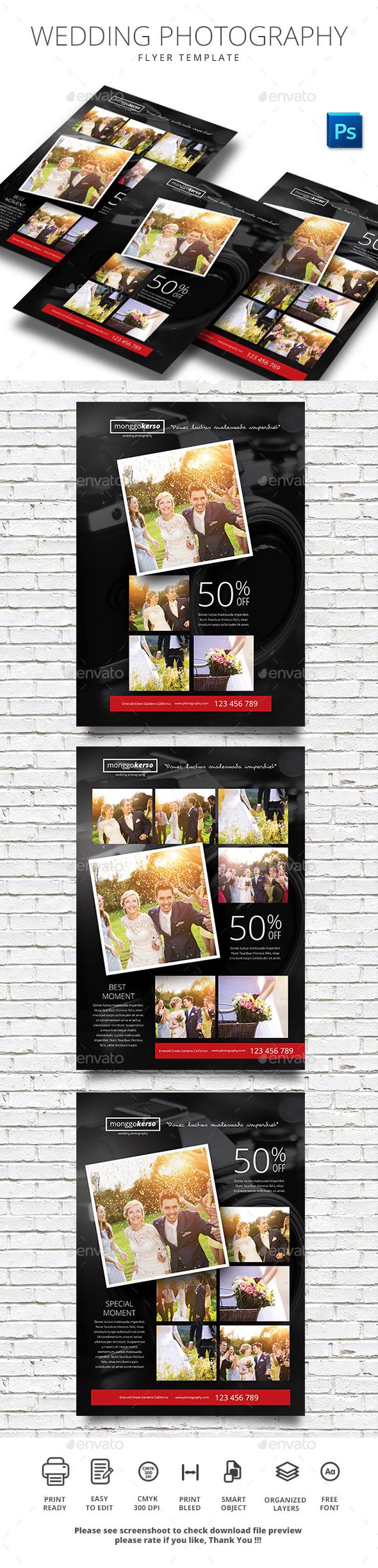 Wedding Photography - Flyers Print Templates
