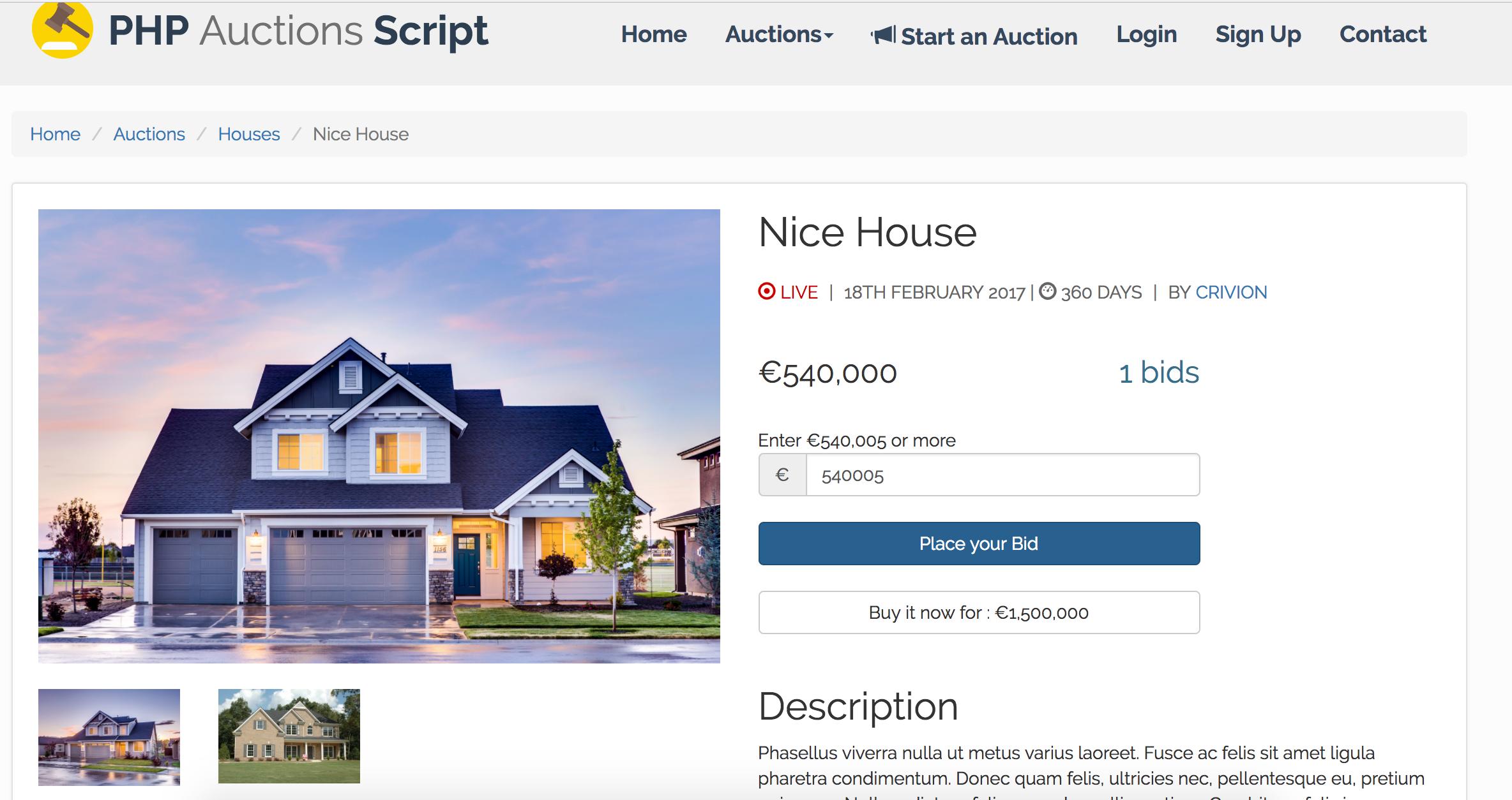 WeBid - auction script