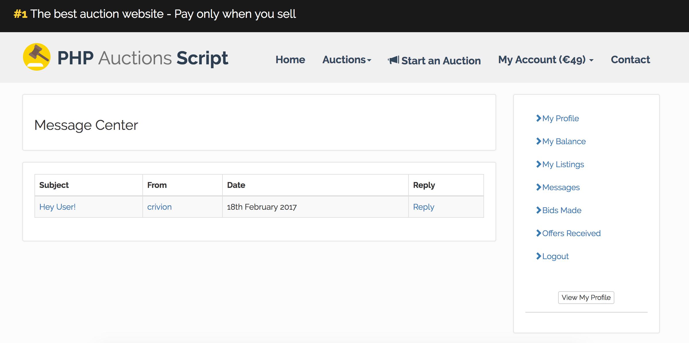Few more super features of Auction Script