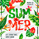Summer Escape Party Flyer vol.4 - GraphicRiver Item for Sale