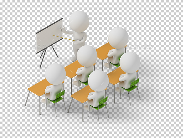Isometric People - Training Courses - Characters 3D Renders