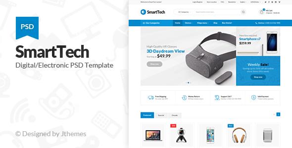 Smart Tech – Ecommerce PSD Template