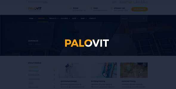 Industrial, Construction, Corporate HTML5 Template – Palovit