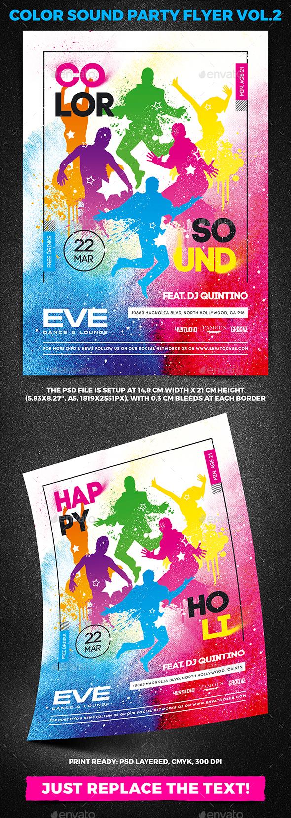 Color Sound Party Flyer vol.2 - Clubs & Parties Events