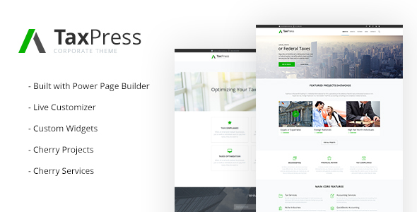 TaxPress - Consulting Services WordPress Theme - Business Corporate