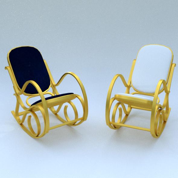 HomCom rocking chair - 3DOcean Item for Sale