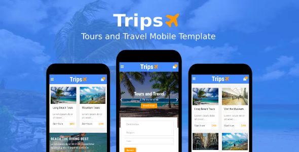 Trips – Tours and Travel Mobile Template