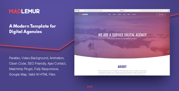 Mad Lemur - A Modern Template for Digital Agencies - Corporate Site Templates