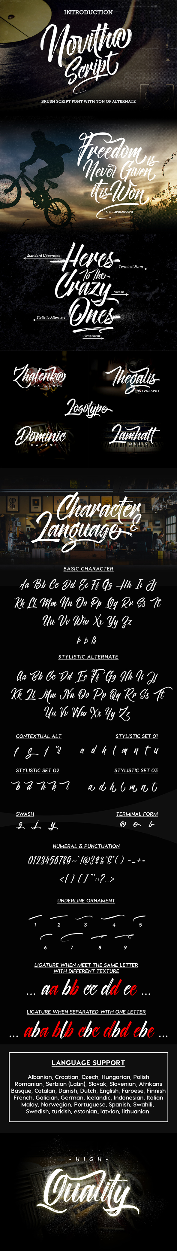 Novitha Script - Hand-writing Script