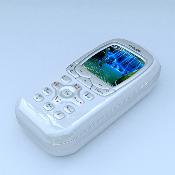 philips mobile white - 3DOcean Item for Sale
