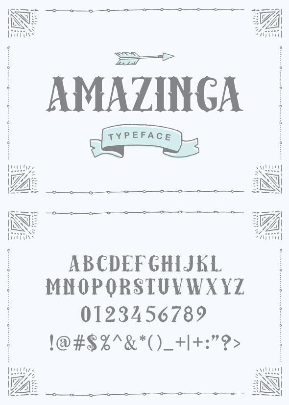 Amazinga Typeface - Serif Fonts