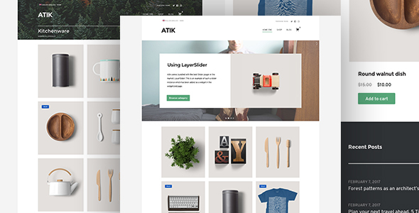 Atik - A Simple WordPress Theme for your Online Store