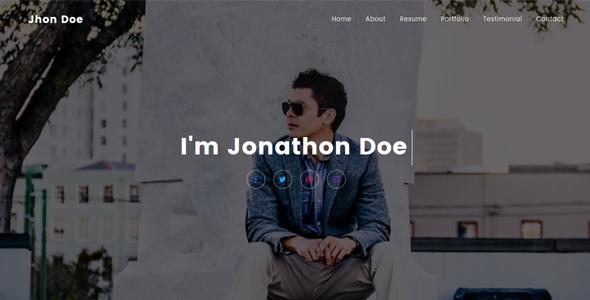Jhon – Personal Portfolio Template