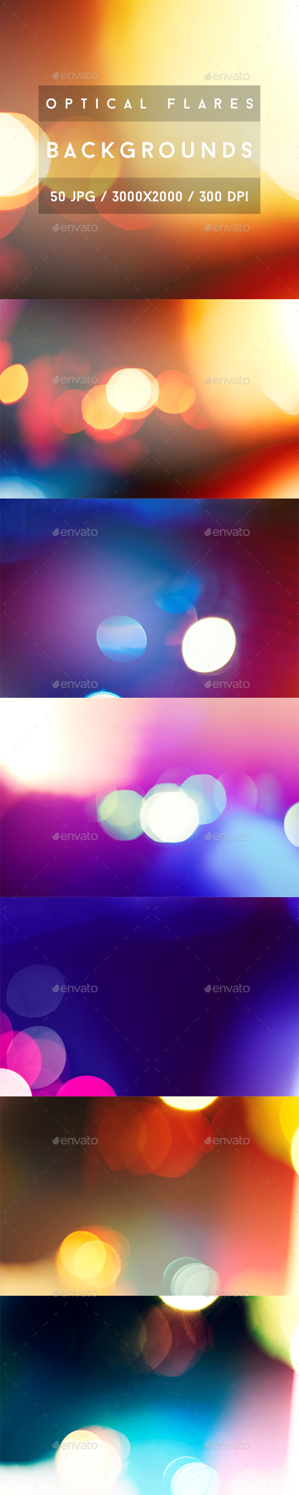 50 Optical Flares Backgrounds - Abstract Backgrounds