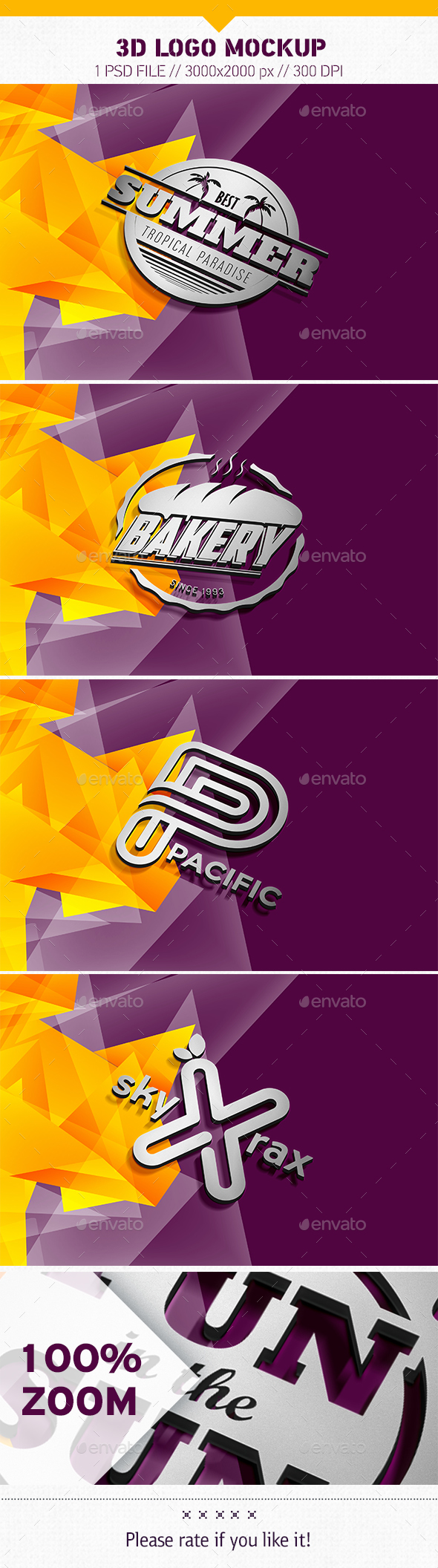 3D Logo Mockup - Product Mock-Ups Graphics