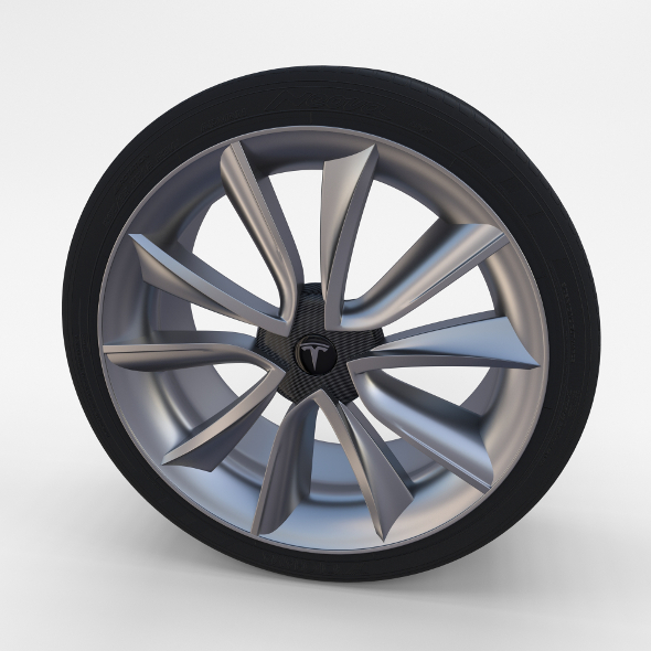Tesla Model 3 Rim - 3DOcean Item for Sale