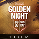 Gold Night - Flyer Template - GraphicRiver Item for Sale