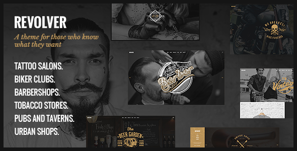 Revolver - Tattoo Studio and Barbershop Theme