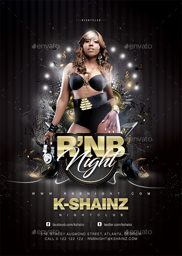 Rnb Night Flyer - Clubs & Parties Events