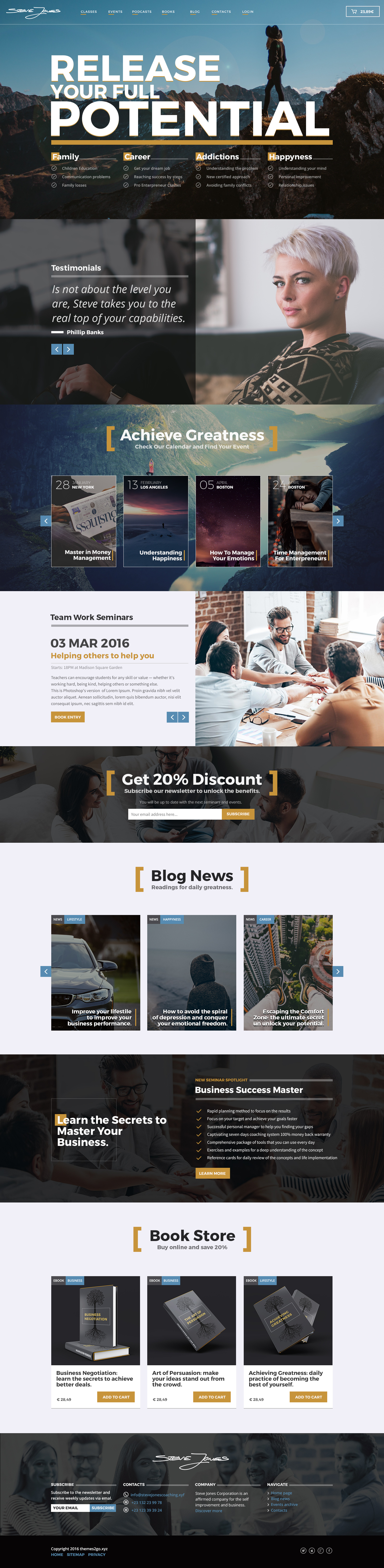 Life Coach HTML Website Template by WordpressThemes2Go | ThemeForest