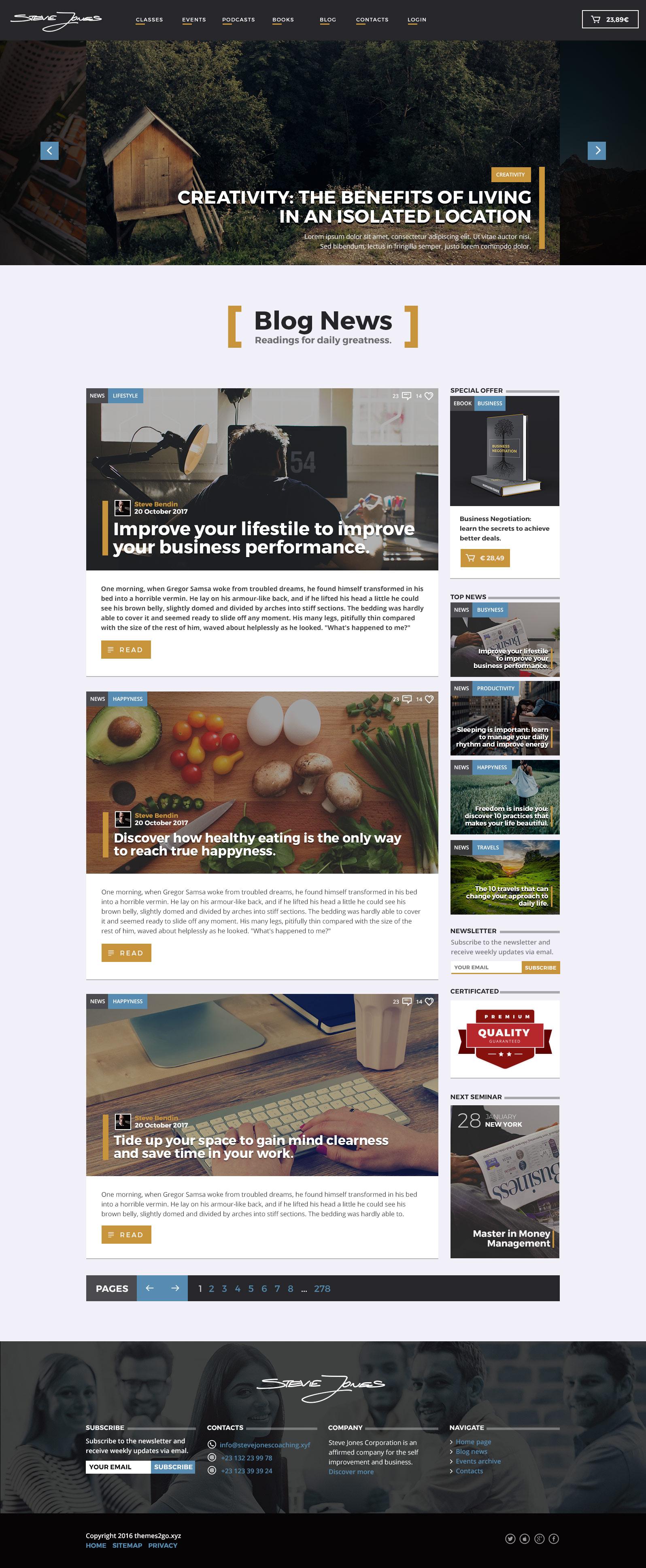 Life Coach HTML Website Template by WordpressThemes2Go | ThemeForest