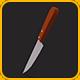 Low Poly Kitchen Knife v.2 - 3DOcean Item for Sale