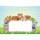 Animals on Nature Cartoon Background - GraphicRiver Item for Sale