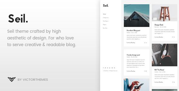 Seil - A Responsive WordPress Blog Theme - Personal Blog / Magazine