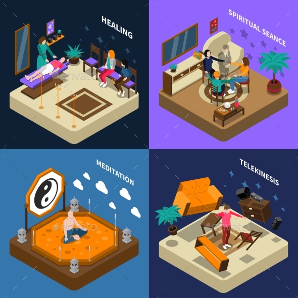 Paranormal Abilities and Meditation Isometric - Miscellaneous Conceptual