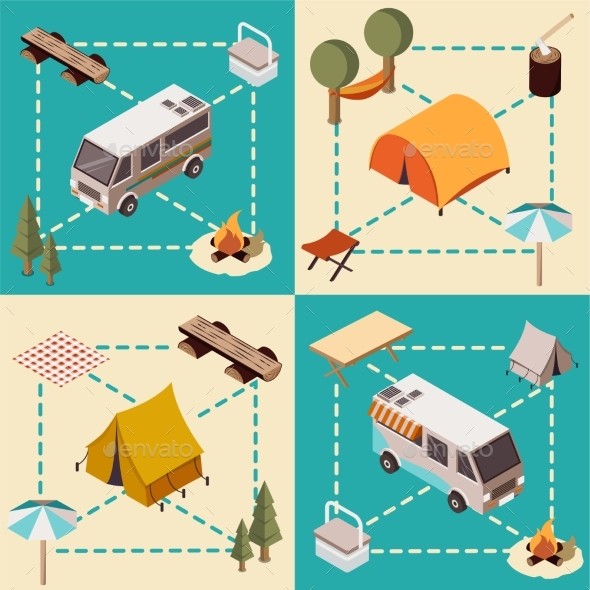 Camp Isometric Compositions - Sports/Activity Conceptual