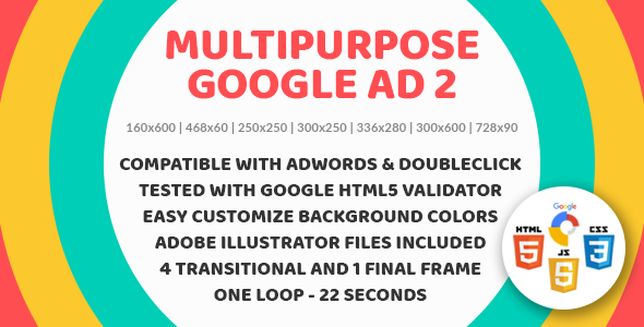 Multipurpose Google Ad 2 - Animated HTML5 Google Banner Templates for AdWords and DoubleClick Studio - CodeCanyon Item for Sale