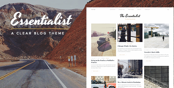Essentialist — A Conveying WordPress Blog Theme