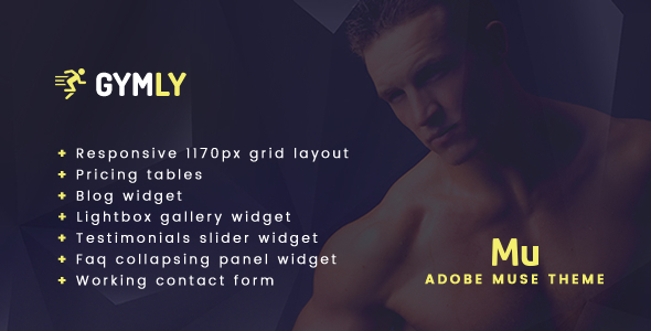 Gymly - Responsive Adobe Muse Theme - Muse Templates