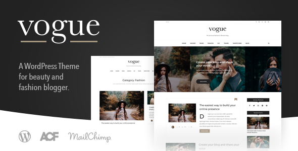 Vogue CD - A Fashion & Lifestyle Blog Theme for WordPress - Blog / Magazine WordPress