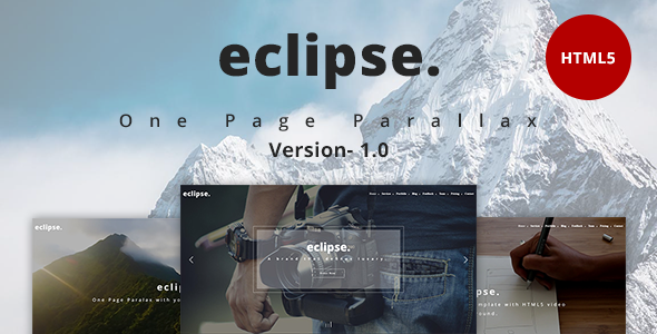 eclipse. – One Page Parallax