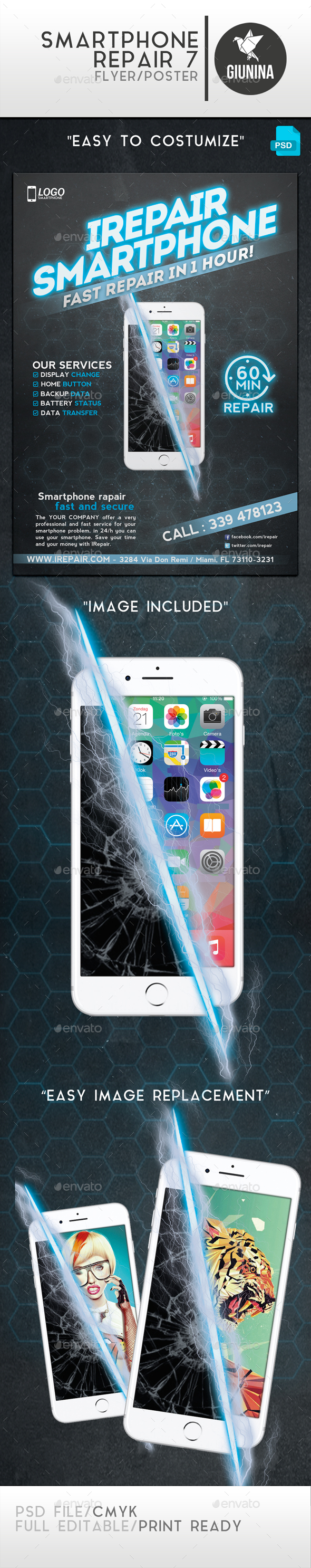 Smartphone Repair 7 Flyer/Poster - Commerce Flyers