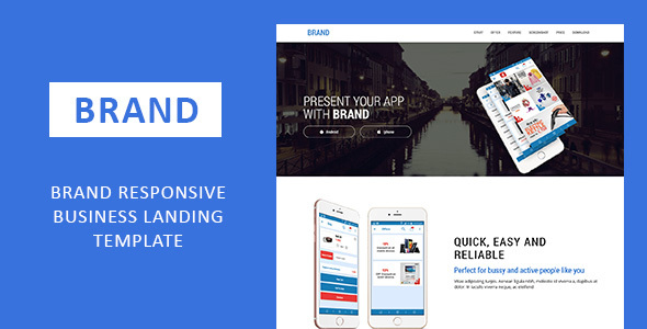 Brand Responsive Business Landing Template