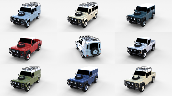 Land Rover Defender Pack - 3DOcean Item for Sale