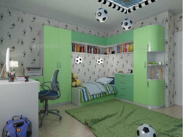3D Visualization of a Child's Room a Young - Architecture 3D Renders
