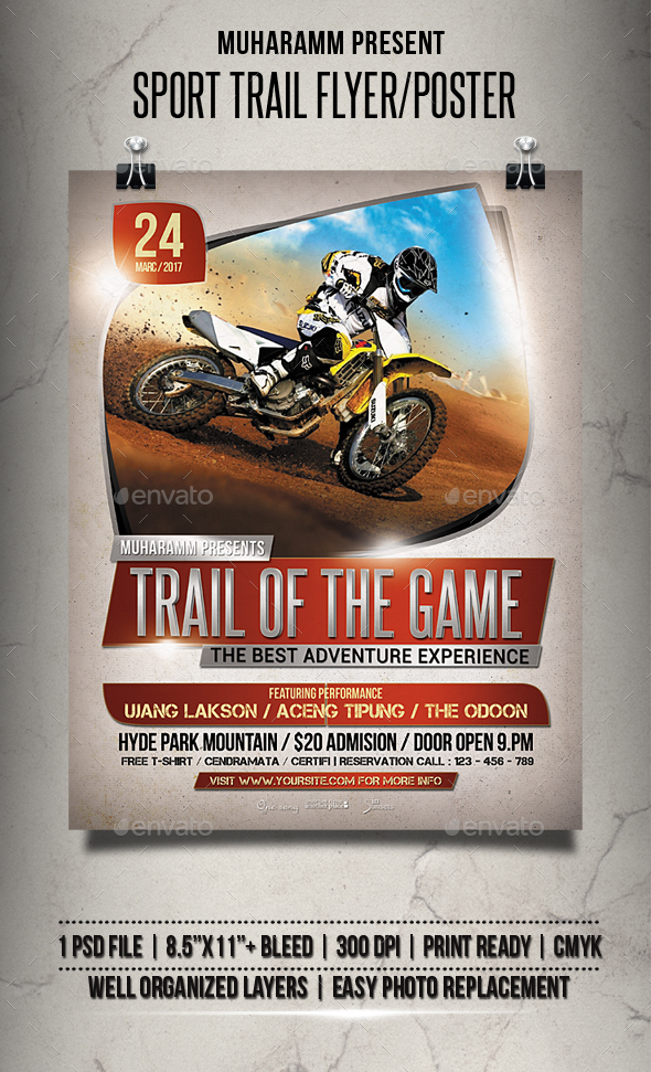 Sport Trail Flyer / Poster - Events Flyers